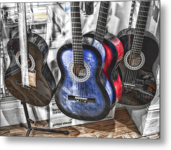 Muted Guitars Metal Print