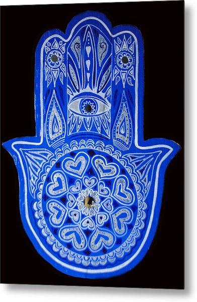 My Blue Hamsa Metal Print