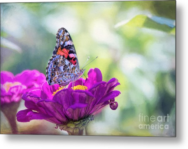 My Fair Painted Lady Metal Print