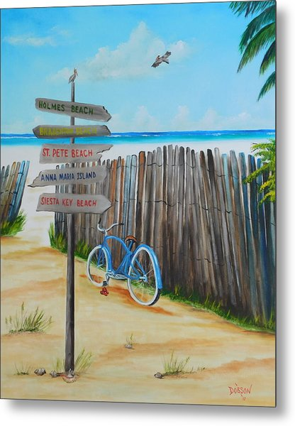 My Favorite Beaches Metal Print