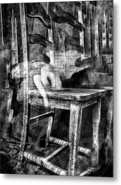 Metal Print featuring the digital art My Favorite Chair 2 by Delight Worthyn