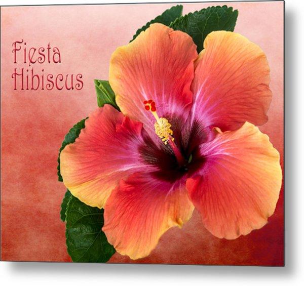 My Fiesta Hibiscus Metal Print