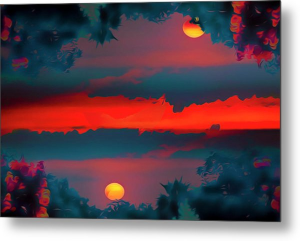 My First Sunset- Metal Print