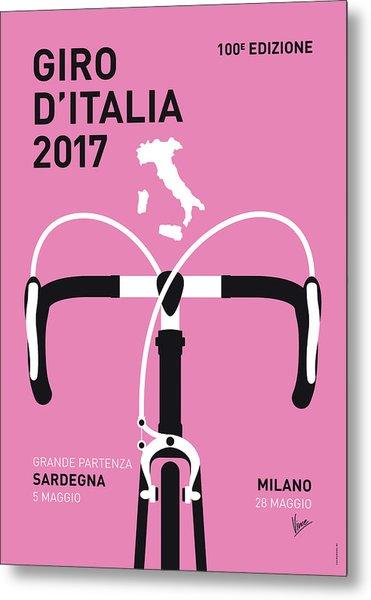 My Giro Ditalia Minimal Poster 2017 Metal Print