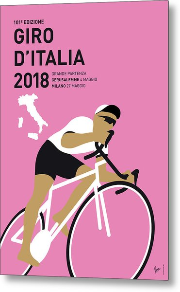 My Giro Ditalia Minimal Poster 2018 Metal Print