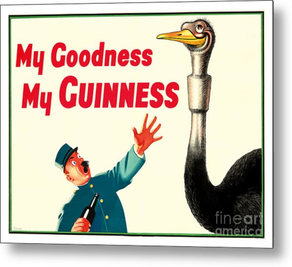 My Goodness My Guinness Metal Print