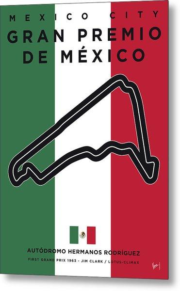 My Gran Premio De Mexico Minimal Poster Metal Print