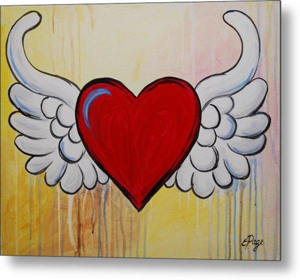 My Heart Has Wings Metal Print