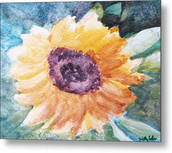 My Heart Is A 'son' Flower Metal Print by Trilby Cole