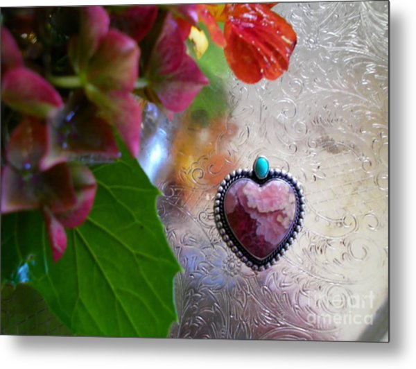 My Heart Is With You Metal Print