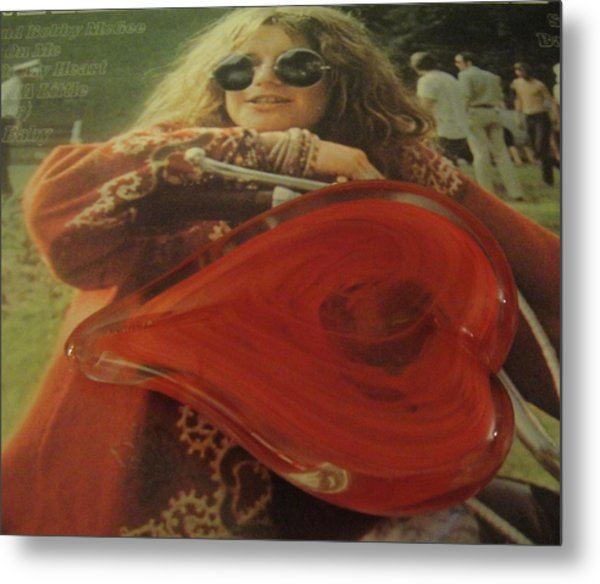 My Heart Loves Janis Joplin Metal Print
