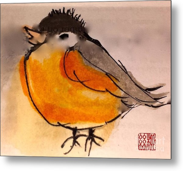 My Little Chickadee Metal Print