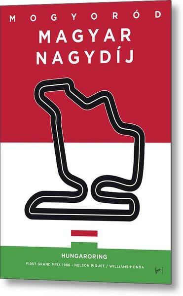 My Magyar Nagydij Minimal Poster Metal Print