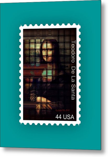 My Mona Lisa Stamp Series Metal Print by Teodoro De La Santa