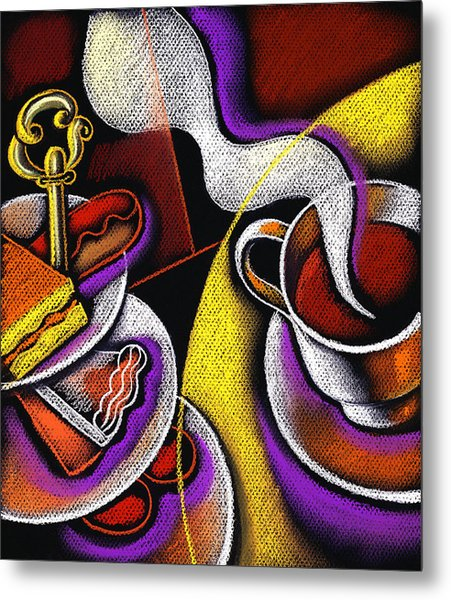 My Morning Coffee Metal Print