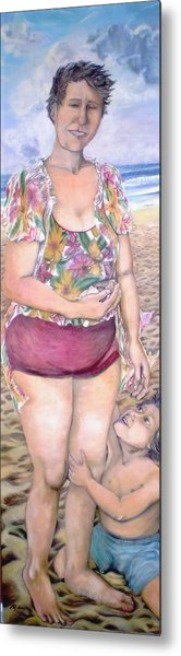 My Mother Had Picked Up Shells - Ma Mere Ramassait Des Coquillages Metal Print