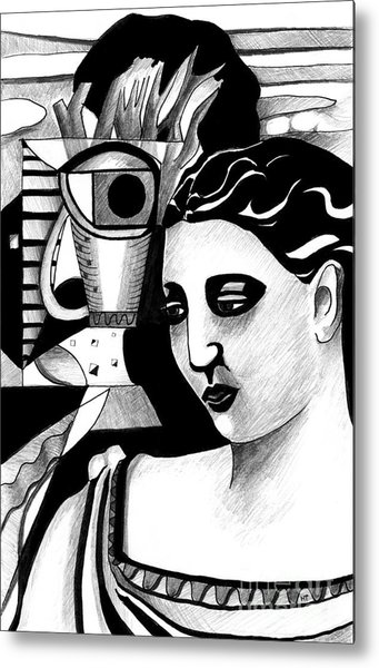 My Outing With A Young Woman By Picasso Metal Print