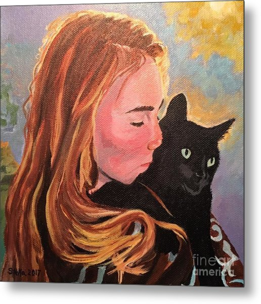 My Purring Friend Whiskers Metal Print