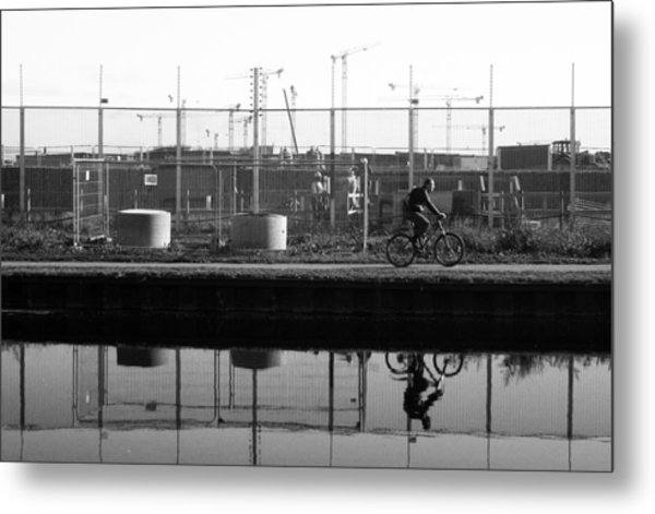 My Ride To Work Metal Print by Jez C Self