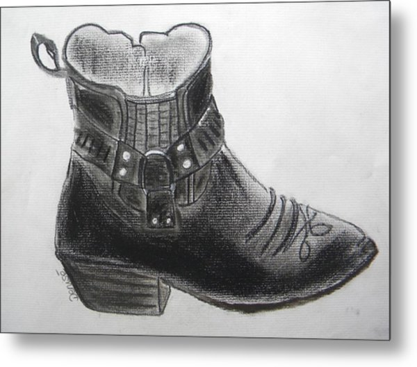 My Right Boot Metal Print