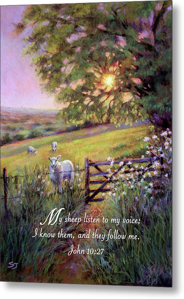 My Sheep Hear My Voice Metal Print
