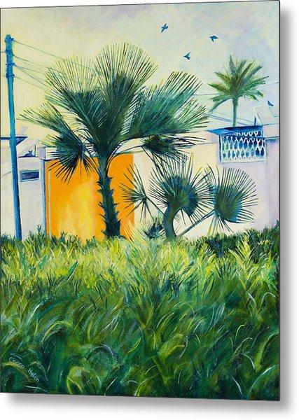My Street Orange Metal Print by Chana Helen Rosenberg