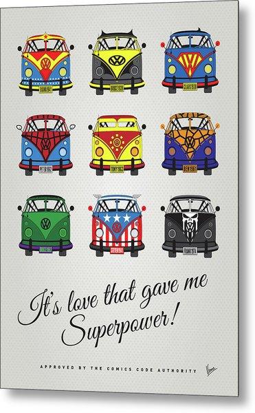 My Superhero-vw-t1-supermanmy Superhero-vw-t1-universe Metal Print