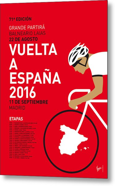 My Vuelta A Espana Minimal Poster 2016 Metal Print