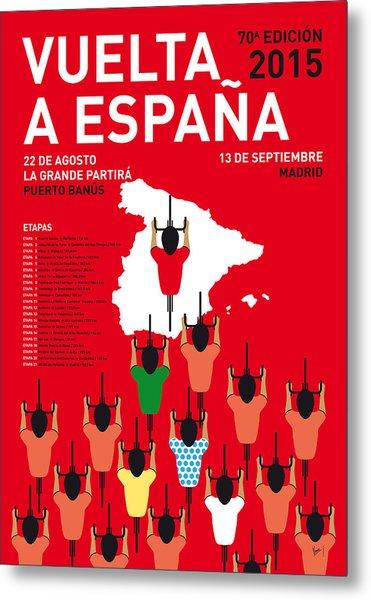 My Vuelta A Espana Minimal Poster Etapas 2015 Metal Print