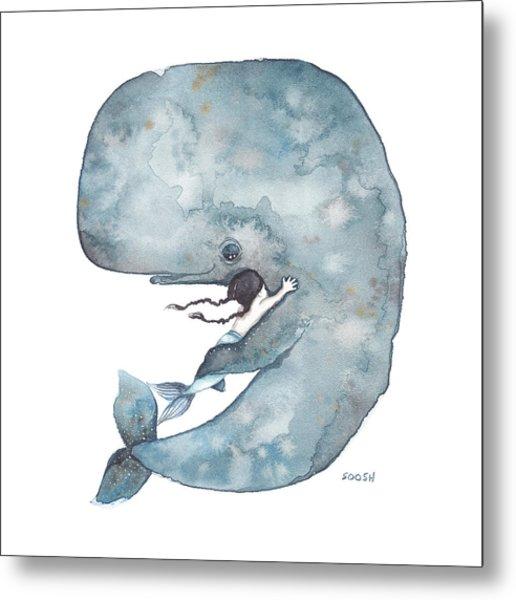 My Whale Metal Print