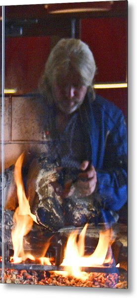 My World On Fire Metal Print by James Granberry