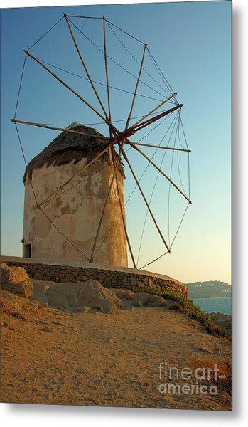 Mykonos Windmill  Metal Print