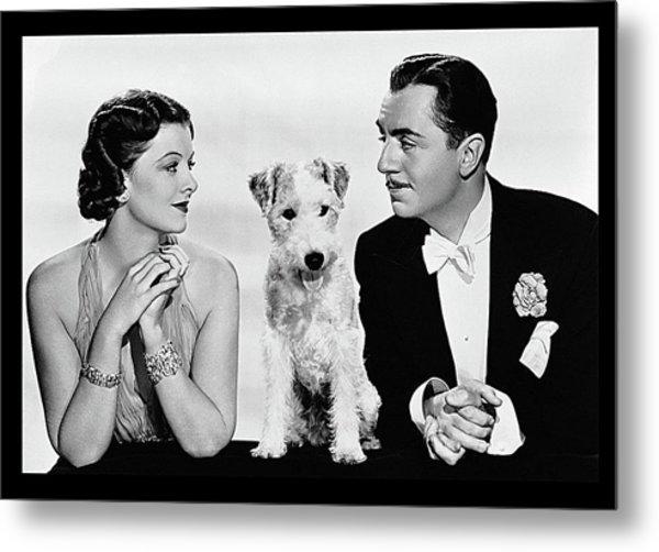 Myrna Loy Asta William Powell Publicity Photo The Thin Man 1936 Metal Print