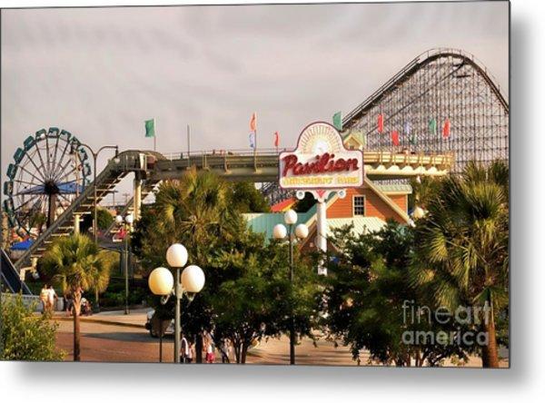 Myrtle Beach Pavillion Amusement Park Metal Print