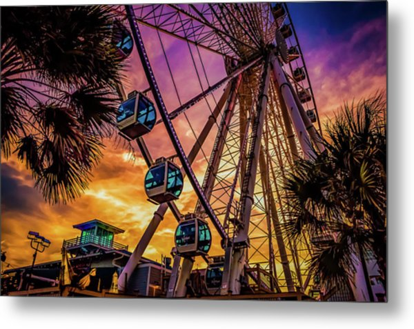 Myrtle Beach Skywheel Metal Print