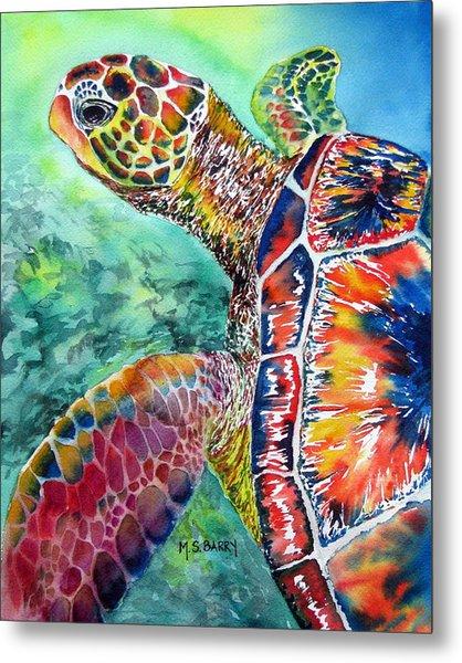 Myrtle The Turtle Metal Print
