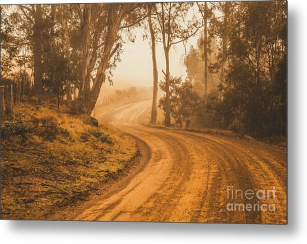 Mysterious Autumn Trail Metal Print