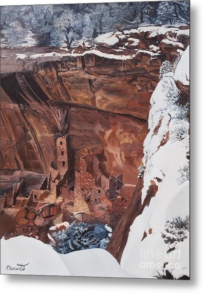 Mysterious City Of The Anasazi - Mesa Verde Metal Print
