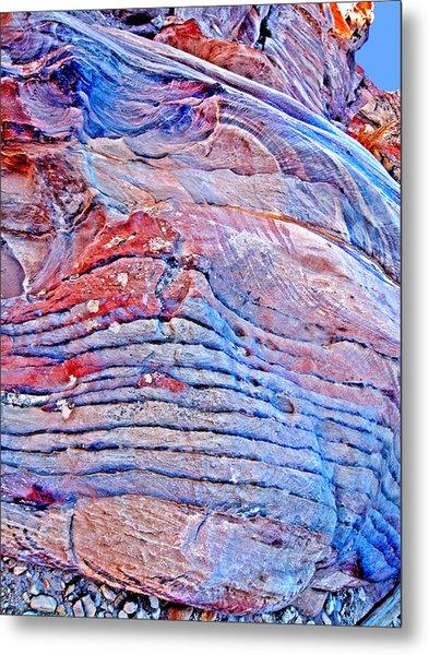 Mysterious Peter. Texture.  Metal Print