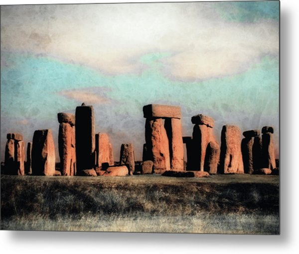Mysterious Stonehenge Metal Print