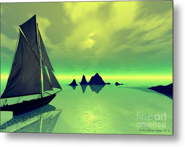 Mysterious Voyage Metal Print by Sandra Bauser Digital Art