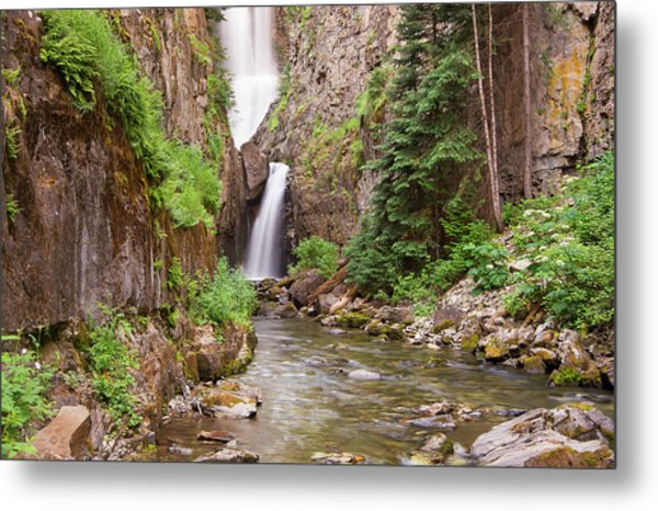 Metal Print featuring the photograph Mystery Falls by Angela Moyer