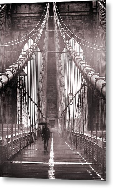 Mystery Man Of Brooklyn Metal Print