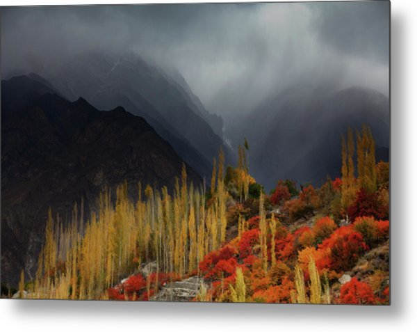 Mystery Mountains Metal Print