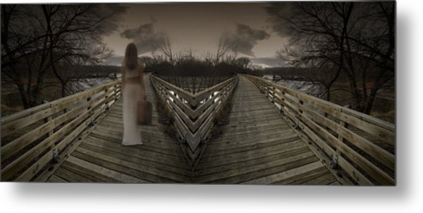 Mystic Bridge In A Dream World Metal Print