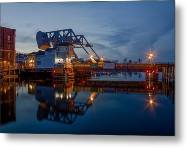 Mystic Drawbridge At Twilight Metal Print