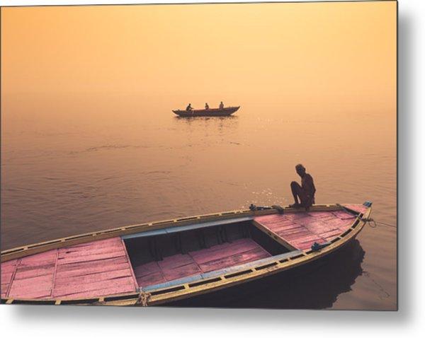 Mystic Ganges Metal Print