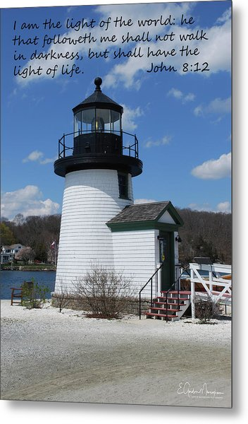 Mystic Lighthouse John 8-12 Metal Print