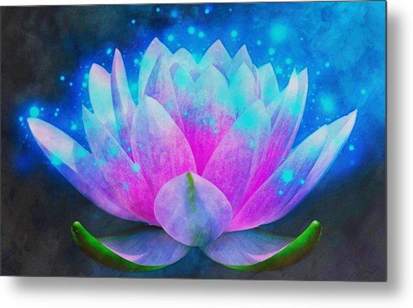 Mystic Lotus Metal Print