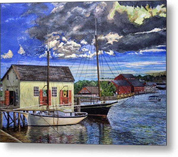 Mystic Seaport Ct Metal Print